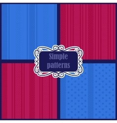 Simple striped patterns vector image vector image