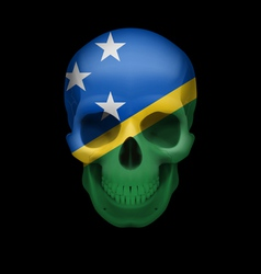 Solomon islands flag skull vector