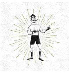 Symbol of vintage boxer vector