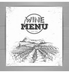 Vintage wine menu design vector