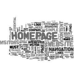 What your website s homepage needs to have text vector
