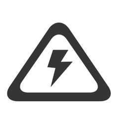 High voltage electricity sign icon graphic vector