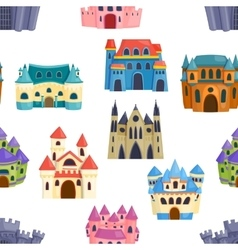 Castle seamless pattern vector