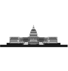 The united states capital building vector