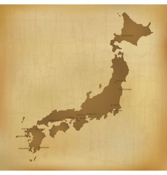 Old japan map vector