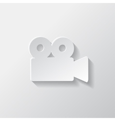 Video camera web icon cinema symbol vector