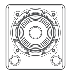 Outline concert subwoofer speaker vector