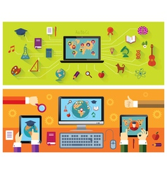 Online education modern technology vector