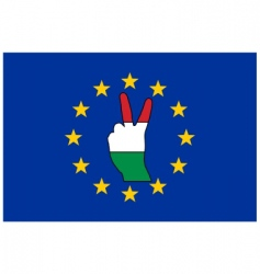 Hungary hand signal vector image