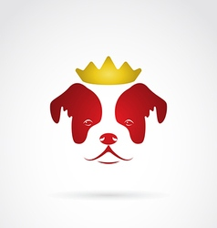 Dog crowned vector