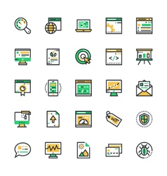 Seo and marketing colored icons 1 vector