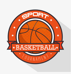 basketball sport logo vector image