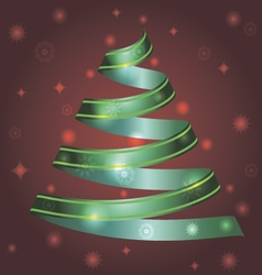 Christmas ribbon tree vector