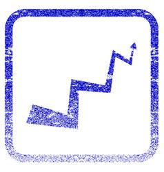 Curve arrow framed textured icon vector