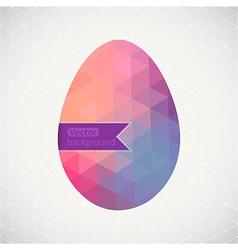 Easter egg made of flowers floral Easter egg vector image