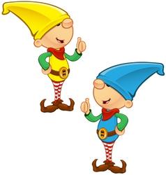 Elf Mascot Giving Thumbs Up vector image vector image