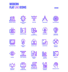 flat line gradient icons design-graphic design vector image vector image