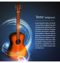 Guitar in fire music vector