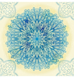 Hand drawn blue ornament vector image
