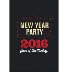 Happy New Year 2016 Flyer Banner or Pamphlet vector image