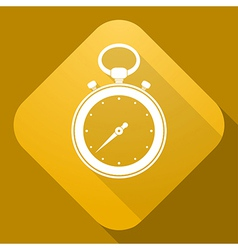 icon of stop watch with a long shadow vector image
