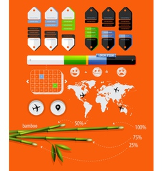 Infographics with bamboo shoots vector