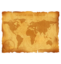 Old vintage world map ancient manuscript grunge vector