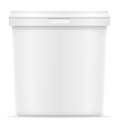 Plastic container for ice cream or dessert 04 vector