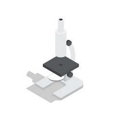 Scientific microscope isolated vector