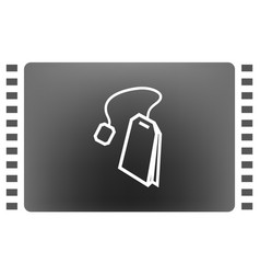 Teabag tea bag line art icon for apps and vector