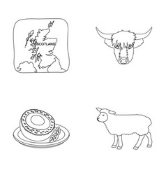 territory on the map bull s head cow eggs vector image
