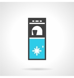 Water cooling machine black and blue icon vector image vector image