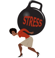 Woman and stress vector image vector image