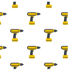 yellow electric screwdriver drill pattern flat vector image