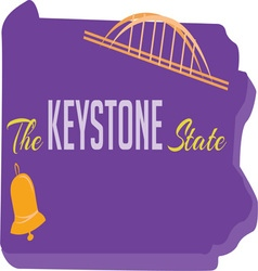 Keystone State vector image