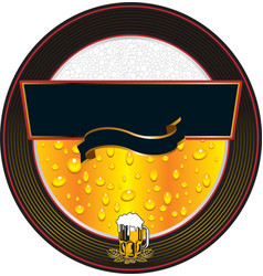 beer fresh label vector image