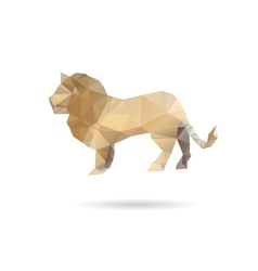 Lion isolated on a white backgrounds vector