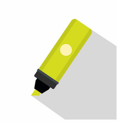 Highlighter icon flat style vector
