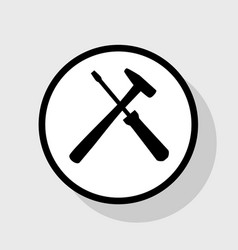 Tools sign   flat black icon vector