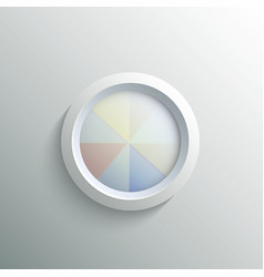 Abstract 3d circle vector