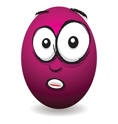 Emotions eggs coloured shocked vector