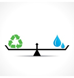 save nature concept recycle symbol and water vector image