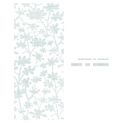 Abstract gray bush leaves textile vertical frame vector