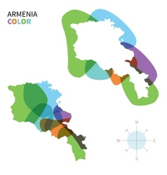 Abstract color map of armenia vector