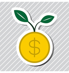 Money plant growth vector