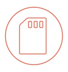 Sim card line icon vector