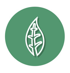 abstract line earth symbol on a circle vector image
