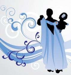 ballroom dance vector image vector image