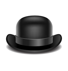 Bowler hat on a white background vector image