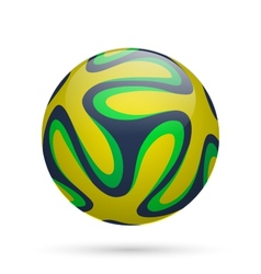Brazilian soccer ball vector